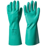 Unsupported, Cotton Flock Lined Nitrile Chemical Resistant Gloves Chemstar®