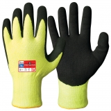 Typhoon® Fibre with Sandy Nitrile Coating, Yellow Hi-Viz™ Colour Cut Resistant Gloves Protector®