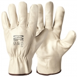 A Grade Cow Grain Leather, Unlined Assembly Gloves