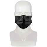 Black Surgical Face Masks, 50-pack